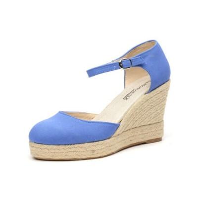 """Zapato de moda flamenca """"Salvia"""" con cuña de esparto y suela de goma"""