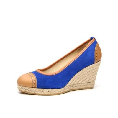 """Zapato de moda flamenca """"Tosca"""" con cuña de esparto y suela de goma"""