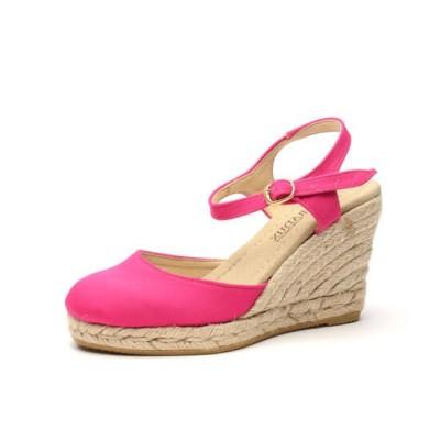 """Zapato de moda flamenca """"Loló"""" yute con hebilla cuña de esparto y suela de goma"""