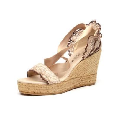 """Zapato de moda flamenca """"Almoradux"""" con cuña de esparto y suela de goma"""