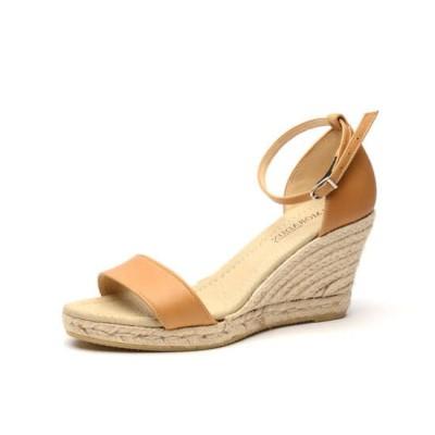 """Zapato de moda flamenca """"Palma"""" con hebilla cuña de esparto y suela de goma"""