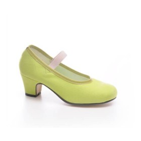 """Zapato de baile flamenco Faralaes """"Gitanilla"""" lona con elástico"""