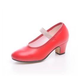 """Zapato de baile flamenco Faralaes """"Gitanilla"""" polipiel con elástico"""