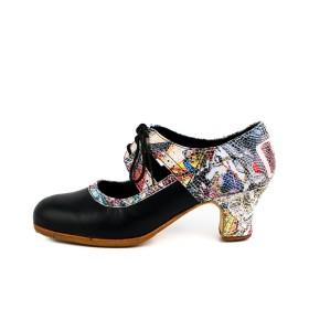 Zapato de baile profesional modelo Fuego Combinado Fantasía