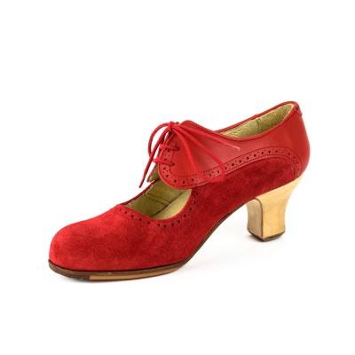 Zapato de baile semiprofesional modelo Flamenco Combinado
