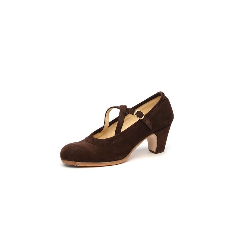 Zapato de baile profesional modelo Cordobesa con 2 hebillas