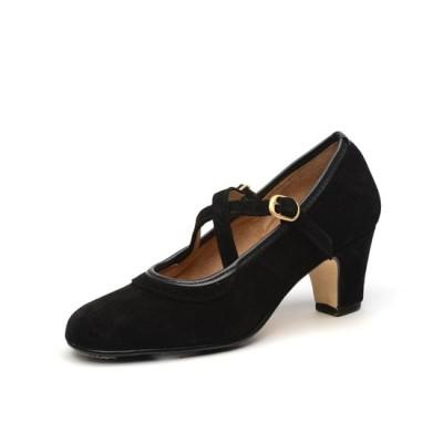 Zapato de baile semiprofesional modelo Cordobesa con 2 hebillas