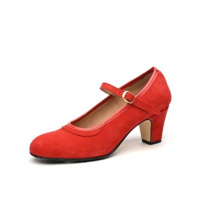 Zapato de baile semiprofesional modelo Clásico Español con 1 hebilla
